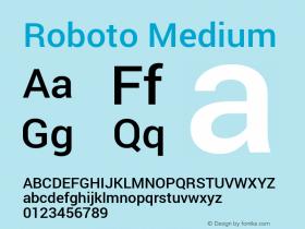 Roboto Medium Version 1.100141; 2013图片样张