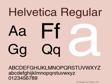 Helvetica Regular 001.006图片样张