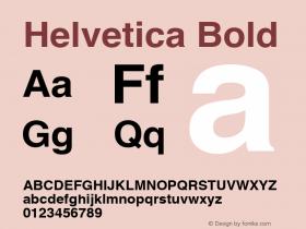 Helvetica Bold 1.0图片样张