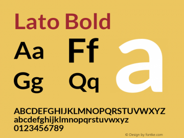 Lato Bold Version 1.104; Western+Polish opensource图片样张