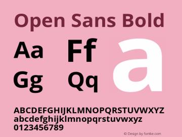 Open Sans Bold Version 1.10图片样张