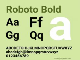 Roboto Bold Version 2.001150; 2014图片样张