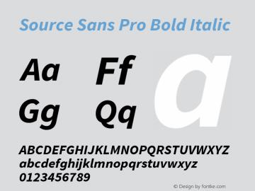 Source Sans Pro Bold Italic Version 1.076;PS 2.000;hotconv 1.0.86;makeotf.lib2.5.63406图片样张