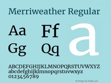 Merriweather Regular Version 2.002图片样张