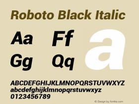 Roboto Black Italic Version 1.00000; 2011图片样张