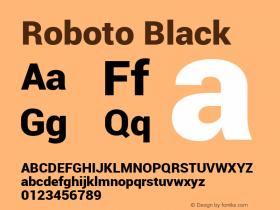 Roboto Black Version 1.00000; 2011图片样张