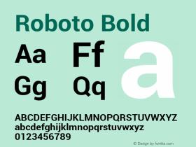 Roboto Bold Version 1.00000; 2011图片样张