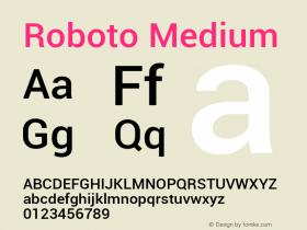 Roboto Medium Version 1.00000; 2011图片样张