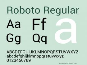 Roboto Regular Version 1.00000; 2011图片样张