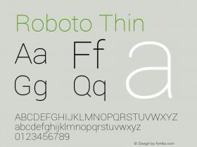 Roboto Thin Version 1.00000; 2011图片样张