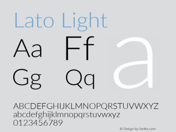 Lato Light Regular Version 2.007; 2014-02-27图片样张