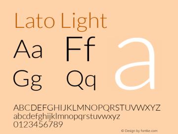 Lato Light Regular Version 1.104; Western+Polish opensource图片样张