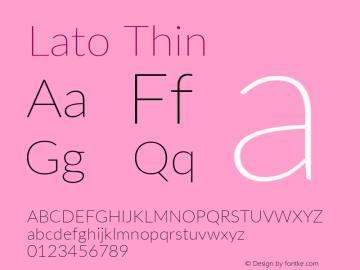 Lato Thin Regular Version 2.007; 2014-02-27图片样张