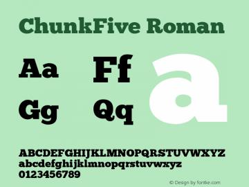 ChunkFive Roman Regular Version 1.000;PS 001.001;hotconv 1.0.56;makeotf.lib2.0.21325图片样张