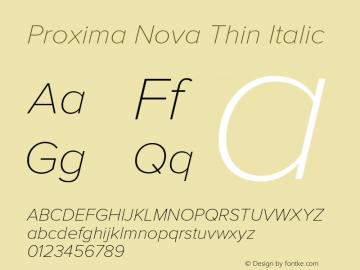 ProximaNova-ThinIt Version 1.000;PS 001.000;hotconv 1.0.38图片样张