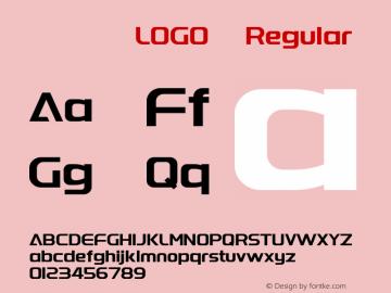 字体圈欣意LOGO体 Regular 图片样张