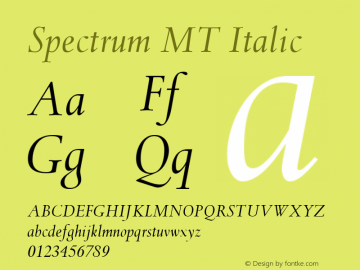 Spectrum MT Italic 001.003图片样张