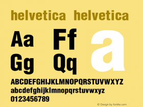helvetica Converted from C:\TTFONTS\HELVBLK2.TF1 by ALLTYPE图片样张
