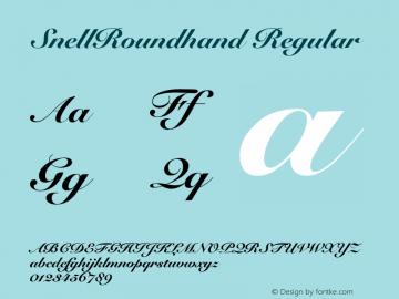 Snell Roundhand Black Script V.1.0图片样张