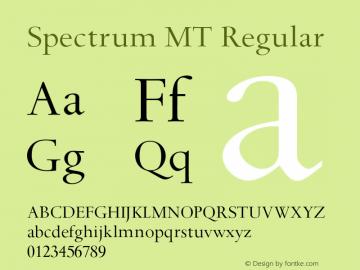 Spectrum MT Regular 001.000图片样张
