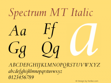Spectrum MT Italic 001.000图片样张