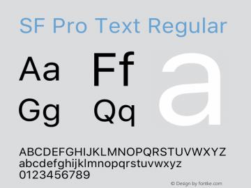 SF Pro Text Regular Version 15.0d4e20图片样张