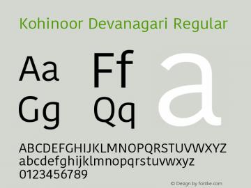 Kohinoor Devanagari Regular 14.0d5e3图片样张