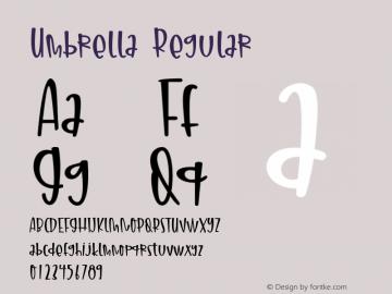 Umbrella Version 1.00;July 17, 2020;FontCreator 11.5.0.2430 64-bit图片样张