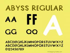 Abyss Version 1.005;Fontself Maker 3.5.1 Font Sample