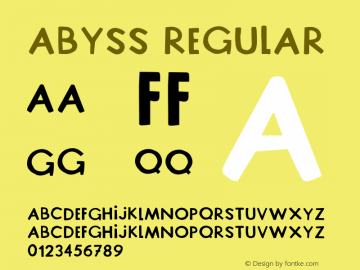 Abyss Version 1.005;Fontself Maker 3.5.1图片样张