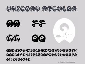 Unicorn Version 1.00;July 18, 2020;FontCreator 11.5.0.2427 32-bit图片样张