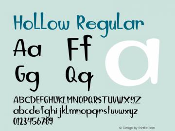 Hollow Version 1.00;July 29, 2020;FontCreator 11.5.0.2430 64-bit图片样张
