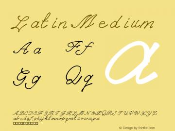 Latin Version 001.000图片样张