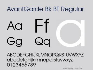 AvantGarde Bk BT Altsys Fontographer 4.0.2 7/10/02图片样张