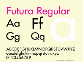 Futura Regular Altsys Metamorphosis:7/7/99图片样张
