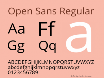 Open Sans Version 1.101;September 23, 2018;FontCreator 11.5.0.2421 64-bit图片样张