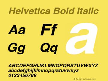 Helvetica BoldOblique 1998; 1.2图片样张