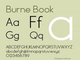 Burne Book Version 1.00 2013 Font Sample