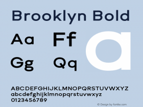 Brooklyn Bold Version 1.000;PS 001.000;hotconv 1.0.88;makeotf.lib2.5.64775图片样张