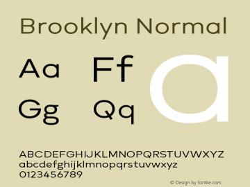 Brooklyn Normal Version 1.000;PS 001.000;hotconv 1.0.88;makeotf.lib2.5.64775图片样张
