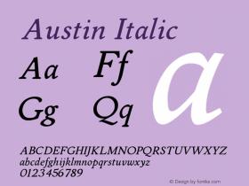 Austin Italic Version 001.000图片样张
