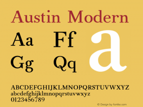 AustinModern Version 001.000图片样张