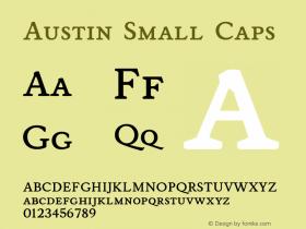 Austin SmallCaps Version 001.000图片样张