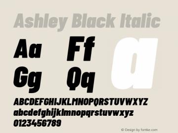 Ashley Black Italic Version 1.101 November 20, 2017图片样张