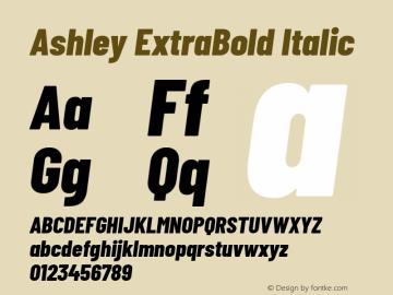 Ashley ExtraBold Italic Version 1.101 November 20, 2017图片样张