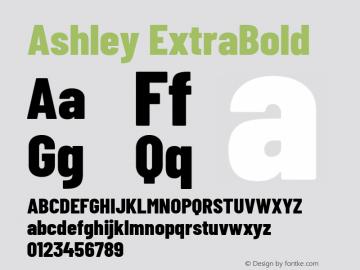 Ashley ExtraBold Version 1.101 November 20, 2017图片样张