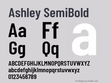 Ashley SemiBold Version 1.101 November 20, 2017图片样张