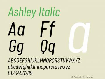 Ashley Italic Version 1.101 November 20, 2017图片样张