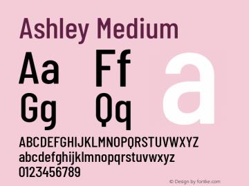 Ashley Medium Version 1.101 November 20, 2017图片样张