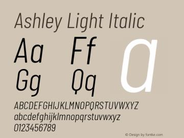 Ashley Light Italic Version 1.101 November 20, 2017图片样张